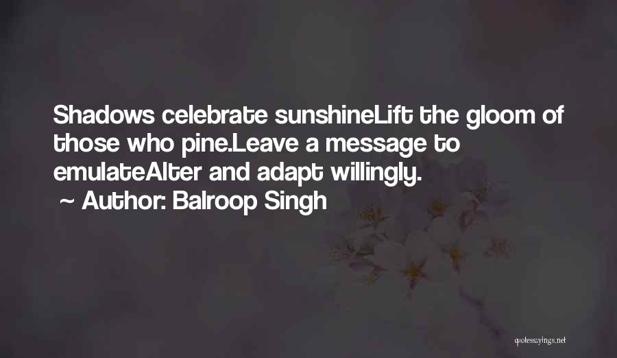Shadows And Sunshine Quotes By Balroop Singh