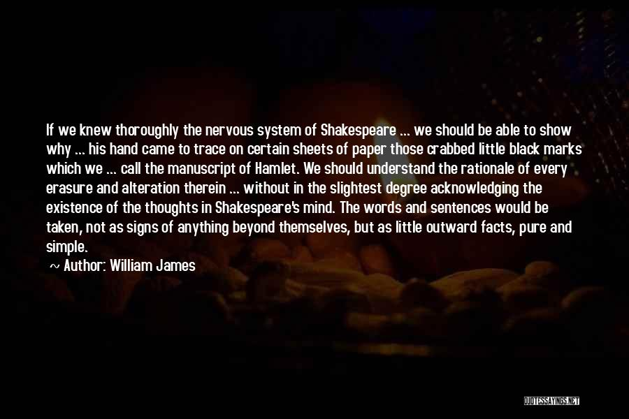 Shakespeare's Hamlet Quotes By William James