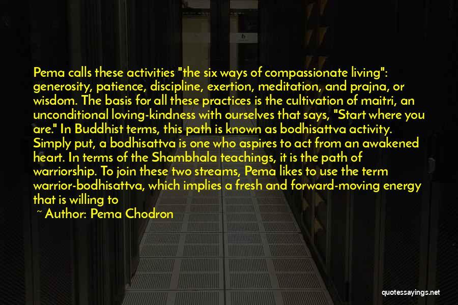 Shambhala Buddhist Quotes By Pema Chodron