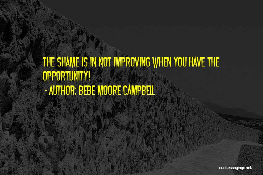 Shame In You Quotes By Bebe Moore Campbell