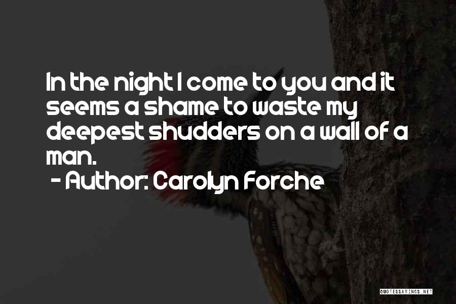 Shame In You Quotes By Carolyn Forche