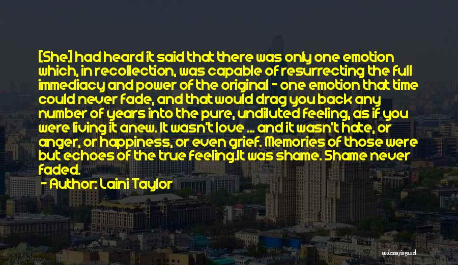 Shame In You Quotes By Laini Taylor
