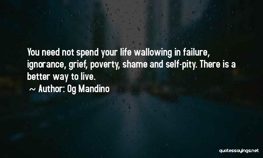 Shame In You Quotes By Og Mandino