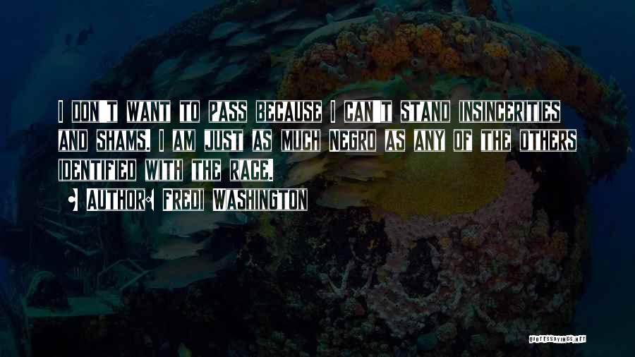 Shams Quotes By Fredi Washington