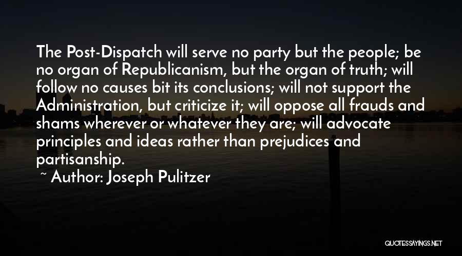 Shams Quotes By Joseph Pulitzer
