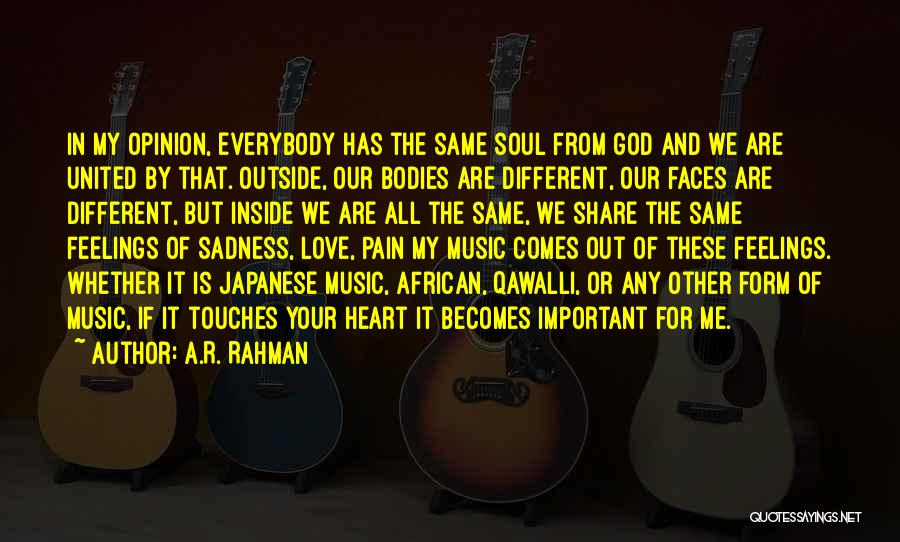 Share Your Sadness Quotes By A.R. Rahman