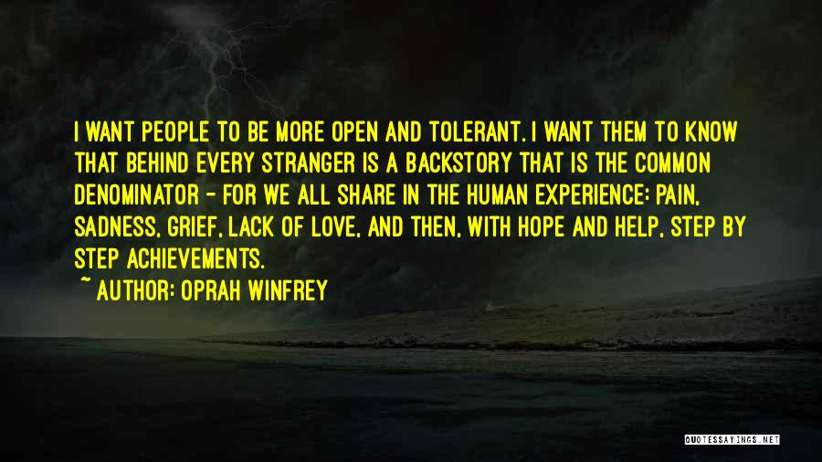 Share Your Sadness Quotes By Oprah Winfrey