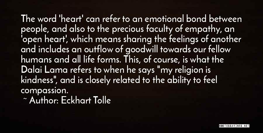 Sharing Compassion And Empathy Quotes By Eckhart Tolle