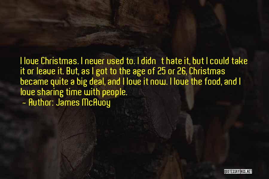 Sharing Food And Love Quotes By James McAvoy
