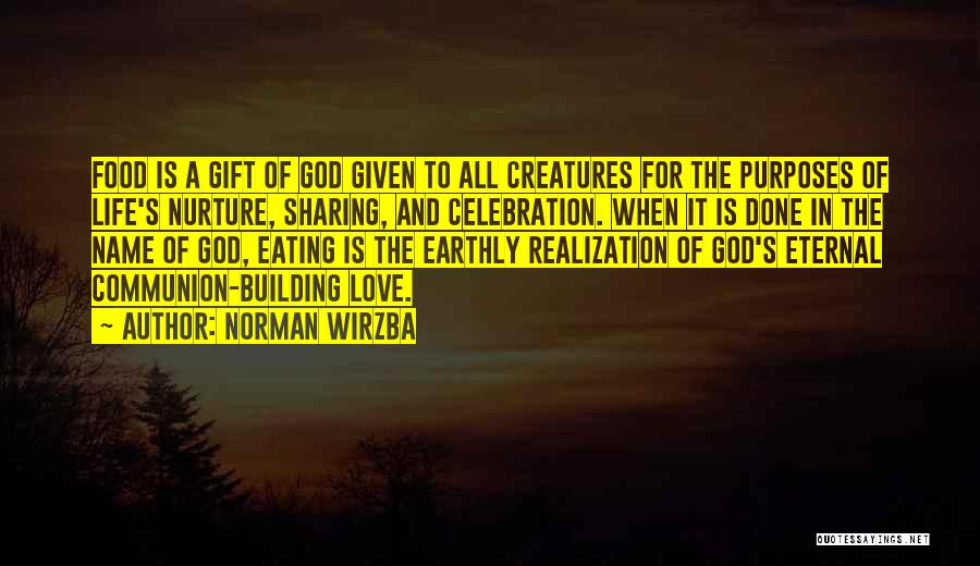 Sharing Food And Love Quotes By Norman Wirzba