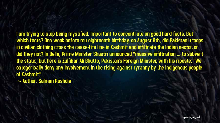 Shastri Quotes By Salman Rushdie