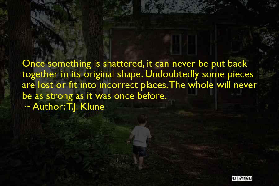 Shattered Pieces Quotes By T.J. Klune
