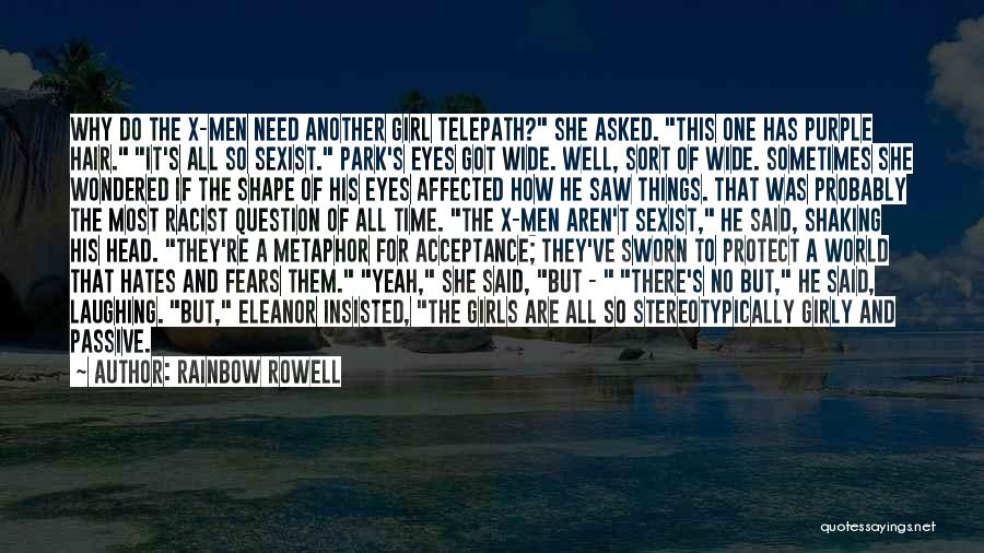 She The Girl Quotes By Rainbow Rowell