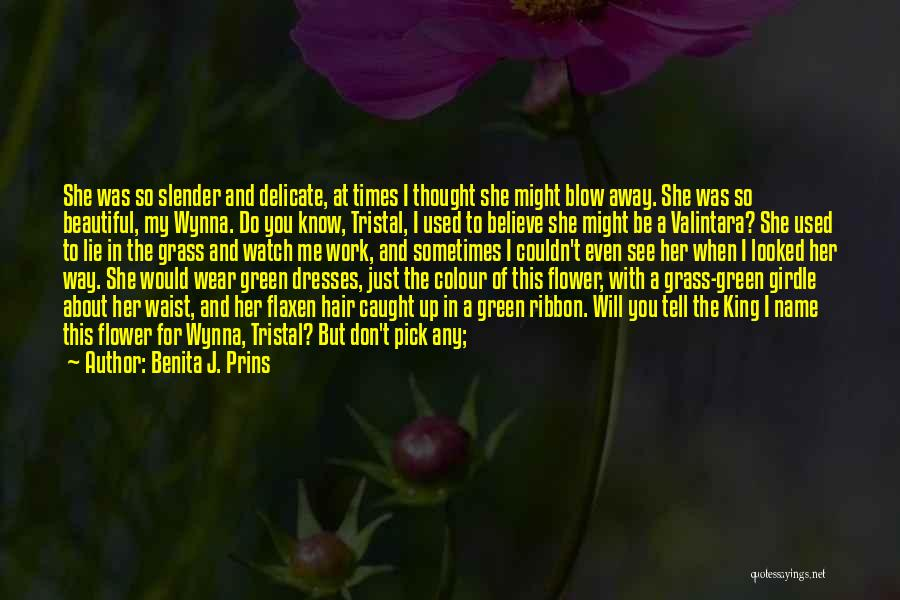 She Used To Love Me Quotes By Benita J. Prins