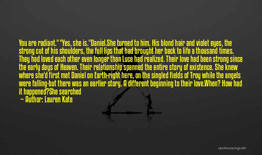 She Was Falling For Him Quotes By Lauren Kate