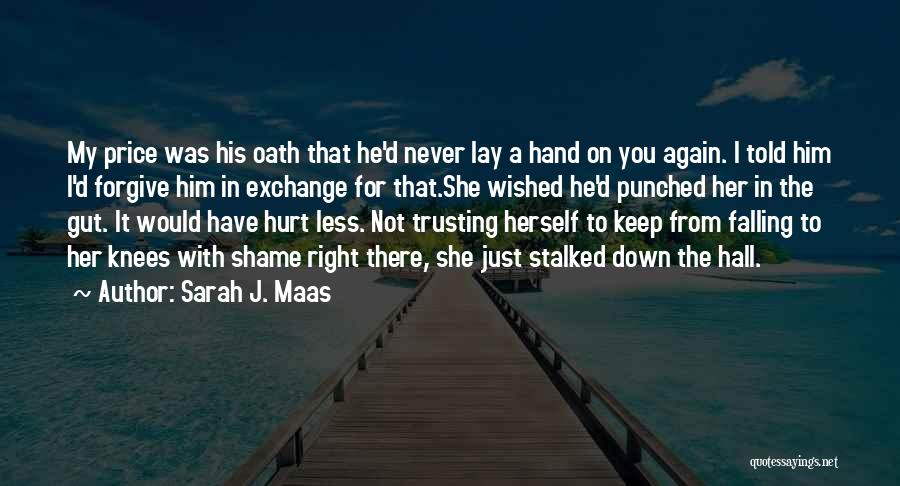 She Was Falling For Him Quotes By Sarah J. Maas