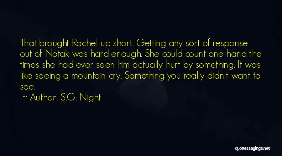She Was Hurt Quotes By S.G. Night