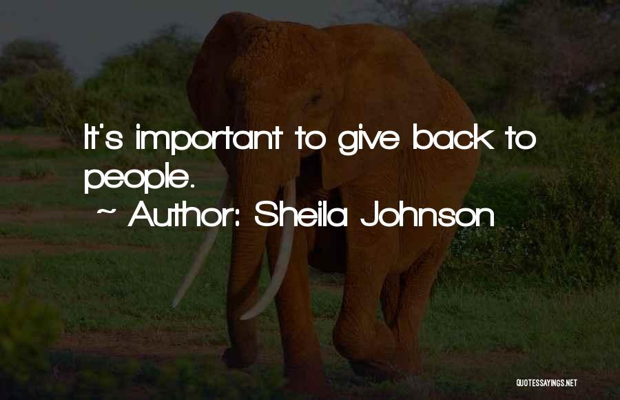 Sheila Johnson Quotes 1566501