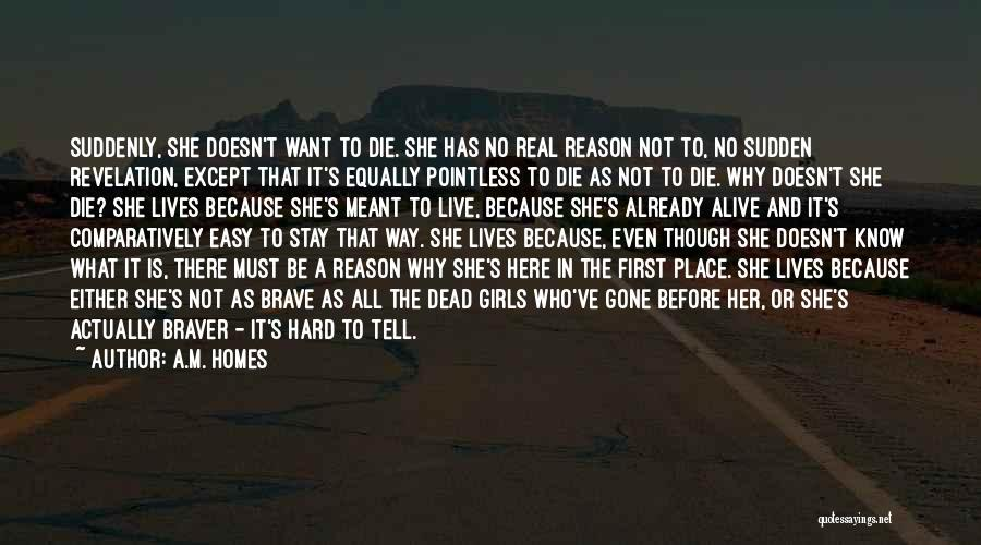 She'll Be Gone Quotes By A.M. Homes