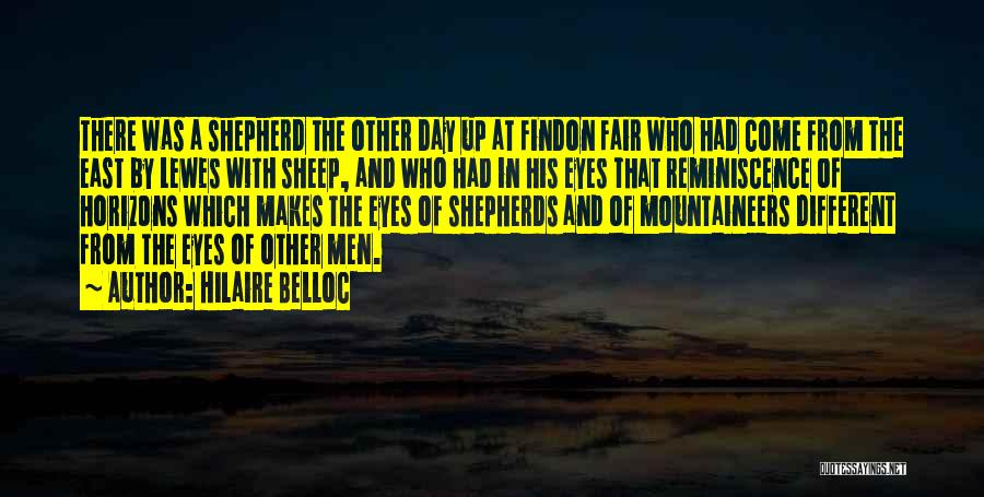 Shepherd And Sheep Quotes By Hilaire Belloc