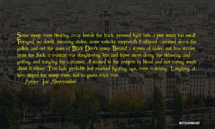 Shepherd And Sheep Quotes By Joe Abercrombie
