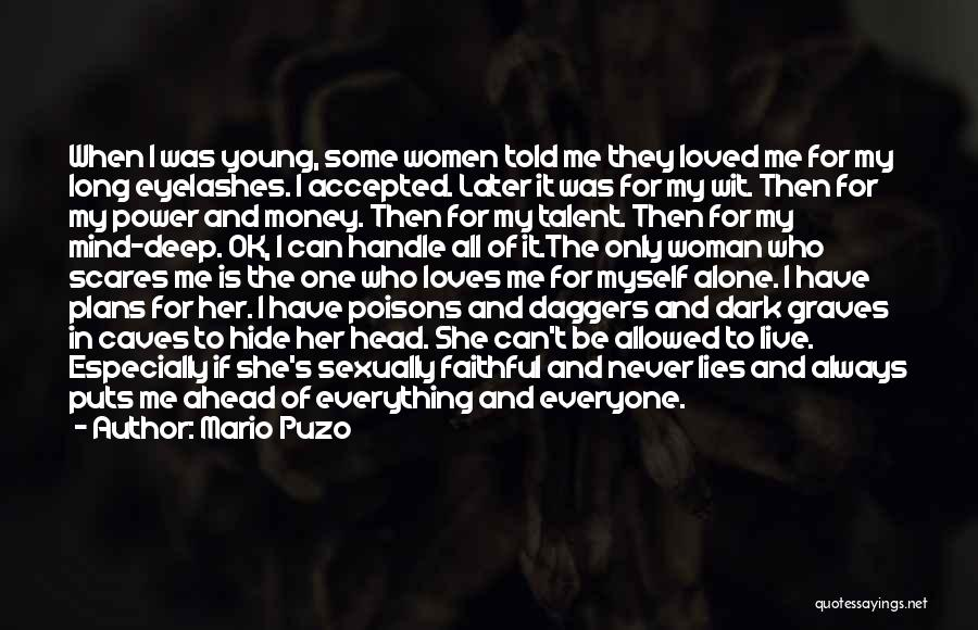 She's My Only One Quotes By Mario Puzo