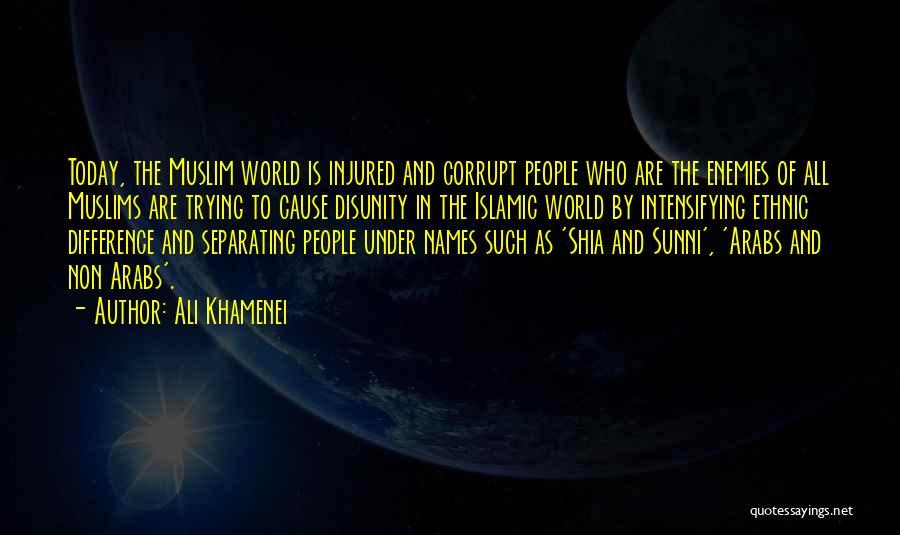Shia Vs Sunni Quotes By Ali Khamenei