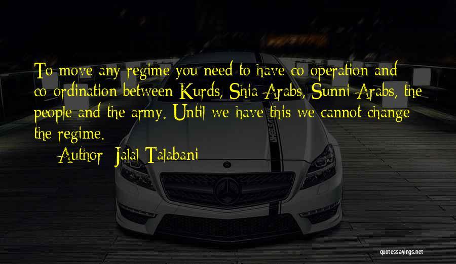 Shia Vs Sunni Quotes By Jalal Talabani