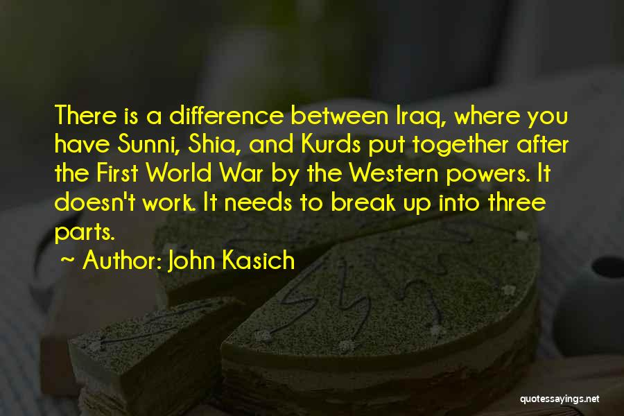 Shia Vs Sunni Quotes By John Kasich