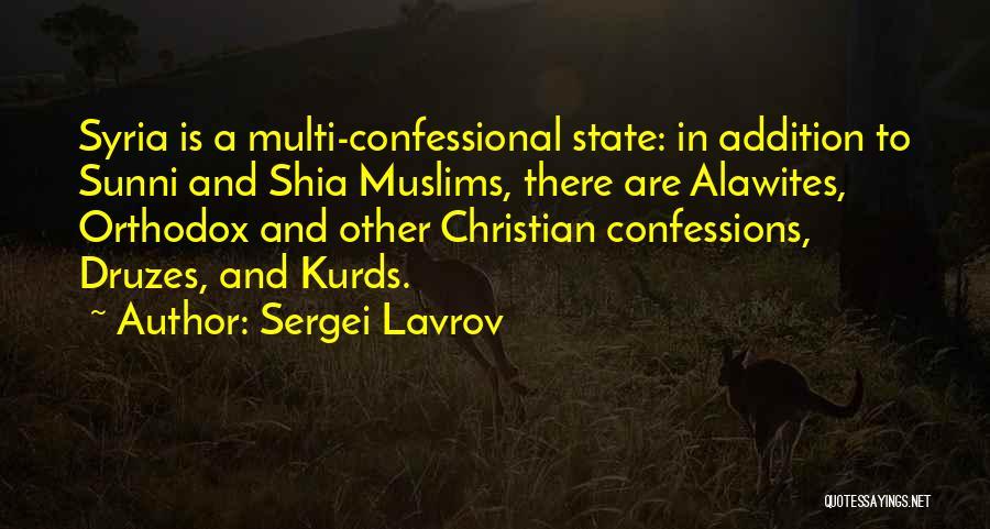 Shia Vs Sunni Quotes By Sergei Lavrov