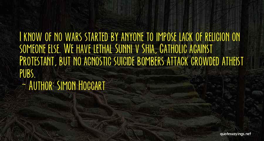 Shia Vs Sunni Quotes By Simon Hoggart