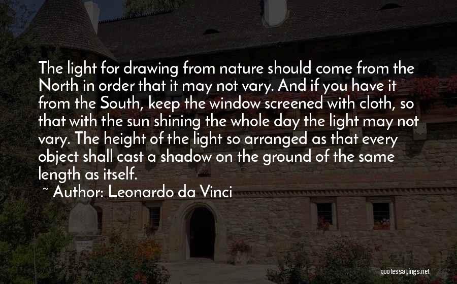 Shining A Light Quotes By Leonardo Da Vinci