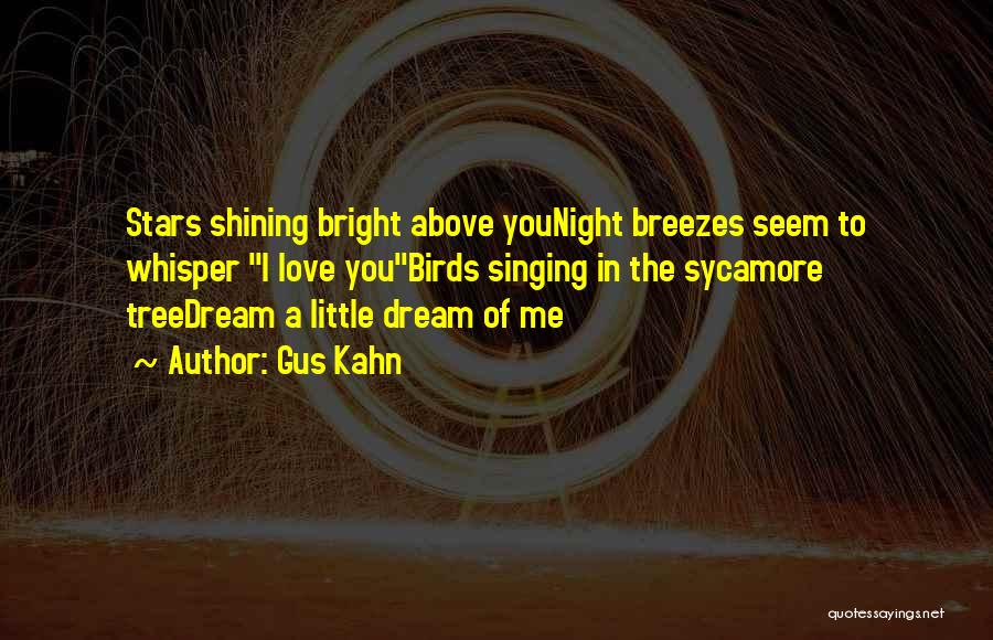 Shining Stars Quotes By Gus Kahn