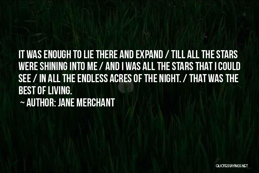 Shining Stars Quotes By Jane Merchant