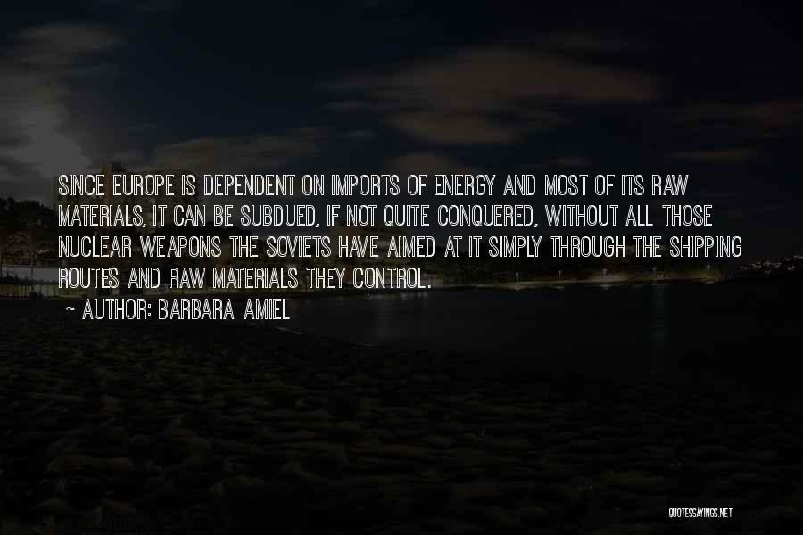 Shipping Quotes By Barbara Amiel