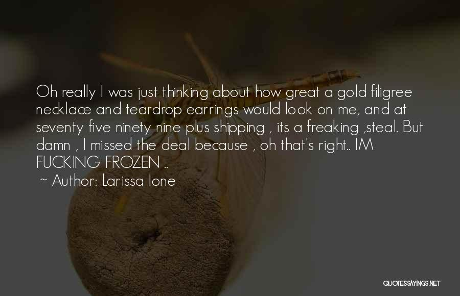 Shipping Quotes By Larissa Ione