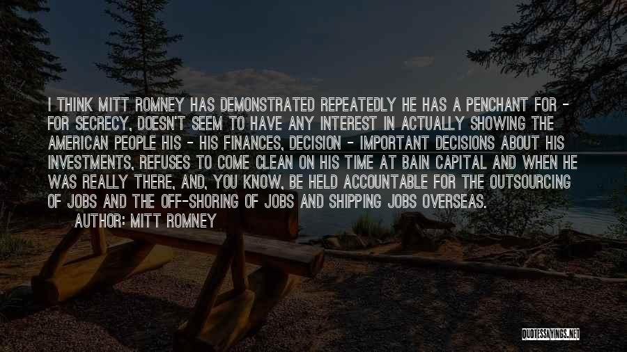 Shipping Quotes By Mitt Romney