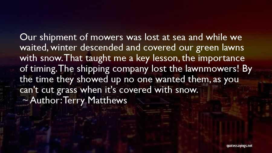 Shipping Quotes By Terry Matthews