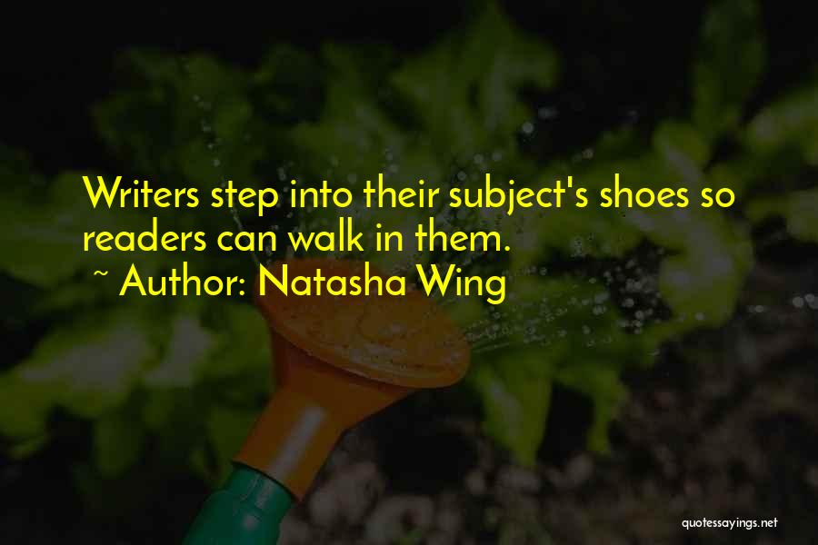 Shoes Inspirational Quotes By Natasha Wing