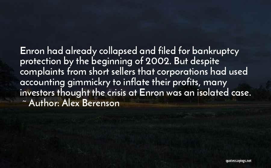 Short Beginning Quotes By Alex Berenson