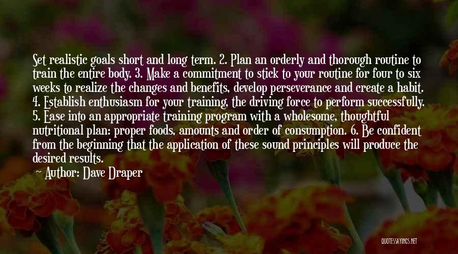 Short Beginning Quotes By Dave Draper