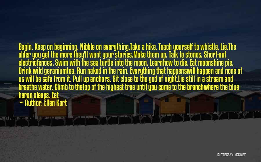 Short Beginning Quotes By Ellen Kort