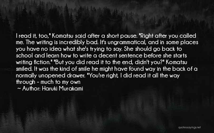 Short Beginning Quotes By Haruki Murakami
