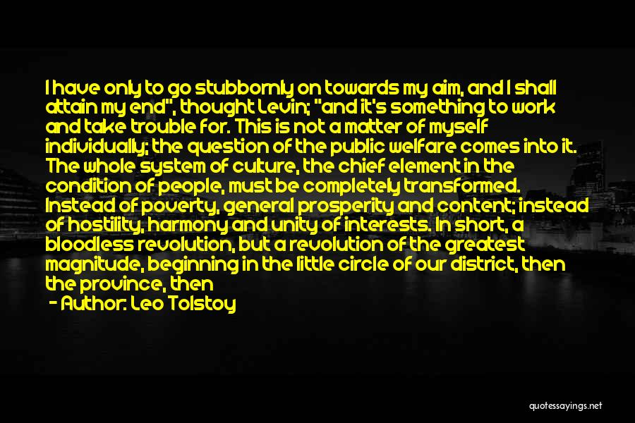 Short Beginning Quotes By Leo Tolstoy