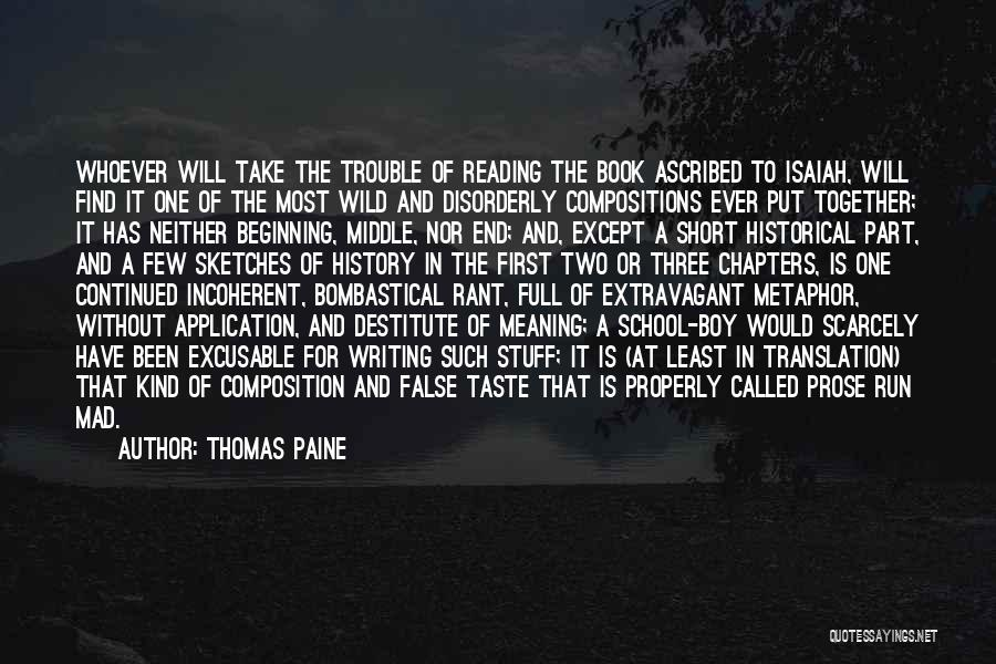 Short Beginning Quotes By Thomas Paine