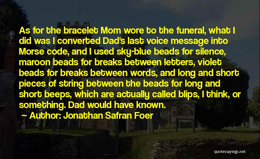 Short Blue Sky Quotes By Jonathan Safran Foer