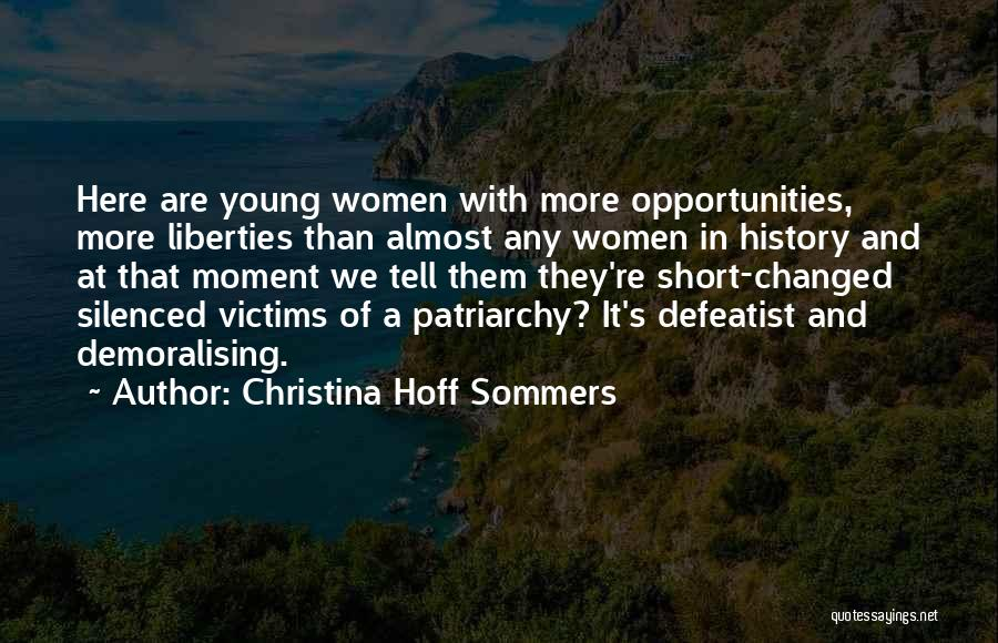 Short Changed Quotes By Christina Hoff Sommers