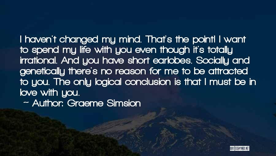 Short Changed Quotes By Graeme Simsion