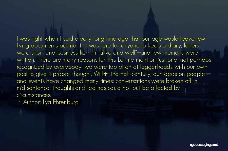 Short Changed Quotes By Ilya Ehrenburg