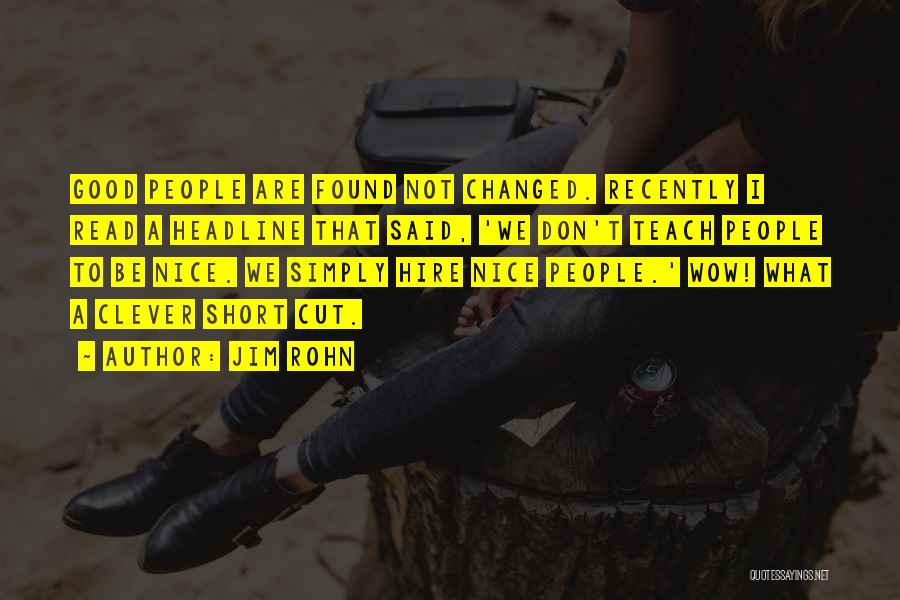 Short Changed Quotes By Jim Rohn